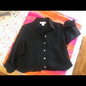 EUC Saks 5th Ave. Irish Linen Long Sleeve Shirt